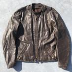 60's 70's BROOKS LEATHER SPORTS WEAR ブルックス シングルライダースジャケット レザー ブラウン TALON オイルメンテ済 バイカー BUCO M位 希少 ヴィンテージ