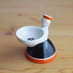 【ラトビア】 小さな陶器のお人形(小物置き)  旧ソ連 USSR