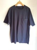 THE HINOKI オーガニックコットンの「THE 」バンドポケットTシャツ Midnaight