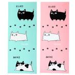 【猫3兄弟3匹】日本製手拭い【猫雑貨】