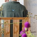 新色入荷!コトリ刺繍・テンセルローン8分袖シャツ *プラネード