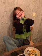 メリビーボタンカーディガン ニットカーディガン カーディガン 韓国ファッション