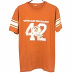 80s Champion Football T-shirt made in USA size L Orange