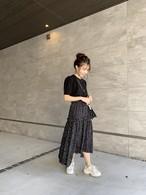 5/27再販【送料無料】ドットギャザーロングスカート