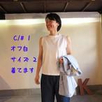 Girl's天竺 ノースリーブTシャツ 12C14 サイズ2