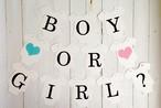 ベビーシャワーガーランド レターバナー ロンパース BOY or GIRL?