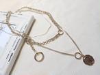 予約注文商品 コインリングネックレス3点セット ネックレス ネックレスセット 韓国ファッション