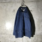 [used] zip denim jacket