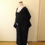 ビロード 紺のコートとストールのセット