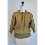 【RehersalL】puff sleeve commando sweater(camel) /【リハーズオール】パフスリーブコマンドセーター(キャメル)