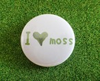I LOVE MOSS 苔缶バッジ【デザイングッズ】