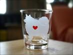 スピッツ彫刻グラス(ハート&クローバー)
