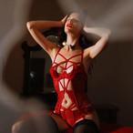 【ルームウェア・パジャマ】セクシー無地透かし彫りプルオーバーランジェリー33534981