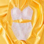 [Mon bebe Lily]Amelie アメリー ソフトブラ&ショーツ  / ラベンダー