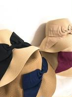 大きめ上品リボンの調整可能帽子
