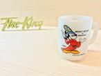 "[Fire King] ディズニー ""ファンタジア"" マグ ミルクガラス"
