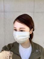 【 軽い 夏用マスク 通気性 速乾】-ユニセックス-柔らかいリネンと シングルガーゼの ワイドタックマスク マスク 布マスク 洗えるマスク -1〜2週間以内に発送-