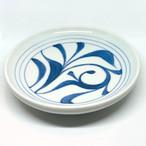 【砥部焼/梅山窯】4.6寸丸皿・切立(一つ唐草)