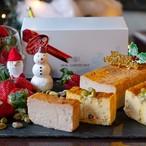 ☆クリスマス限定フレーバー☆ ストロベリー&ピスタチオ リアルチーズケーキ (2本セット)