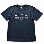 """Mt.Kurikoma """"HIKE"""" 4.1oz ドライTシャツ(ネイビー)"""