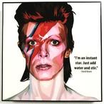 David Bowie (1) / デヴィッド ボウイ「ポップアートパネル Keetatat Sitthiket」ポップアートフレーム ポップアートボード グラフィックアート ウォールアート 絵画 壁立て 壁掛けインテリア 額 ポスター プレゼント ギフト インスタ映え 音楽 キータタットシティケット