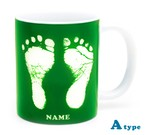 ai mug   A-type (GREEN) QRコード付き