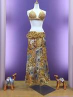 ベリーダンス衣装 ゴールド ブラベルトスカートセット