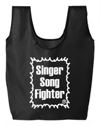 Singer Song Fighter ナイロンリップストップ マルシェバッグ (エコバッグ)ブラック