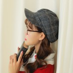 【即納】チェック柄 レトロ キャスケット ベレー【SKOR14462】