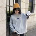 【送料無料】 秋のヘビロテアイテム♡ ロゴ プリント ロンT ゆるだぼ ビッグシルエット オーバーサイズ