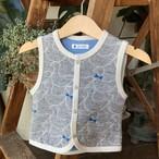 【ベビーベスト】ahiru no sanpo/ブルー/original textile