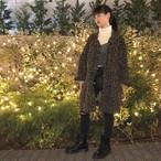 《金沢友花さん着用》シックレトロルーズワイルド長袖レオパード柄ジャケットアウター