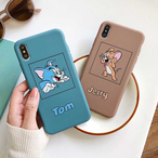 【オーダー商品】Cute cat and mouse iphone case