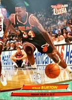 NBAカード 92-93FLEER Willie Burton #97 HEAT