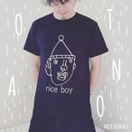 OTONA Tシャツ nice boy ブラック