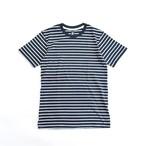 AS Colour ボーダー S/S Tシャツ (NAVY)