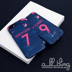 「LALIGA」アトレティコマドリード 2017-18シーズン サードユニフォーム アントワーヌグリーズマン サイン入り iPhoneX iPhone8 ケース