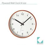 KATOMOKU plywood clock km-36MRC 電波時計