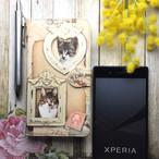 """オーダーメイドのペツトの写真で作るスマホケース""""アンティークポストカード"""""""