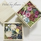 Wood box flowers(Spring / Tsukimi)