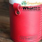 What will be will be & Greenfield サーモス THERMOS 保冷缶 ホルダー レザー カバー 350ml  ハンドメイド レザー 本皮 アウトドア wb0053gf