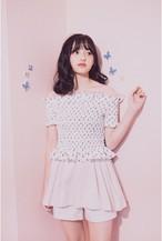 【Lilien Room】Glossy Off Shoulder Tops