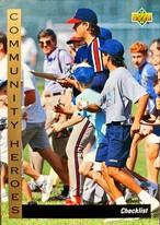 MLBカード 93UPPERDECK #30 COMMUNITY HEROES CHECKLIST
