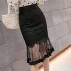 【dress】レース切り替えフェミニンな雰囲気スカート25714879