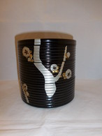 漆蒔絵三段重 three-tiered lacquer ware box(circle)