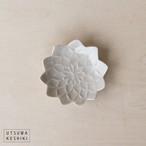 [前田 麻美]ダリア 豆々皿(灰琥珀釉)