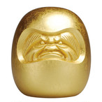 Reborn Daruma doll - Platinum Gold leaf