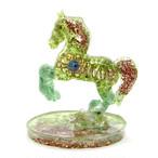 馬型 ペリドット&アベンチュリンオルゴナイト 置物 財運をもたらす馬モチーフ
