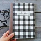 Meditation Notebook【Brown・無地A5変形サイズ38ページ】ギンガムチェック