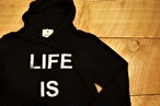 LIFEis BIGロゴパーカー(black)¥4200+tax
